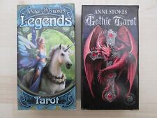 """Anne Stokes Magical """"LEGENDS TAROT"""" & """"GOTHIC TAROT"""" Two Oracle Cards sets."""
