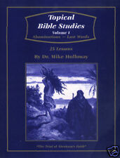KJV Sunday School Lessons Topical Bible Studies Vol. 1