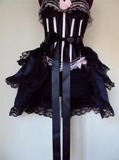 Black Navy Steampunk Burlesque  Bustle Belt Cape Shrug Skirt Onesize