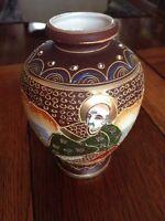 Vintage Goldcastle Moriage Style  Urn Vase Dual Face Gold Trim Made in Japan