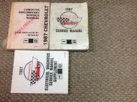 1987 Chevrolet CHEVY CORVETTE Service Repair Shop Manual SET PRELIMINARY + EWD X