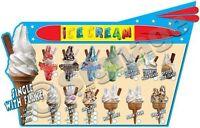 ice cream van stickers Retro Rocket Sticker