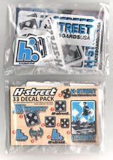 H-Street Skateboard Sticker Pack - 33 Skate Stickers old school reissues new sk8