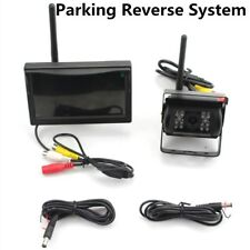 Car Truck Bus 5 Inch Wireless Parking Kit Combo Monitor Reverse Backup Camera