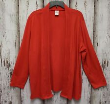 b65836c65cf 3025 Blair Women 2XL Open Front Cardigan Coral Knit Long Sleeve