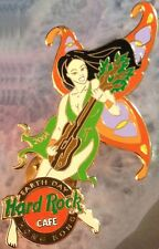 Hard Rock Cafe HONG KONG 2004 EARTH DAY PIN Butterfly Girl Playing GUITAR #23075