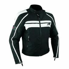 Motorcycle Motorbike Waterproof Textile Thermal Jacket CE Armoured White L
