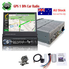 "7"" Single 1 Din Car Radio Stereo Player GPS SAT NAV MP3 AUX/USB Bluetooth+Camera"