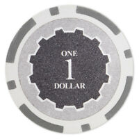 100 Eclipse 14g Gray $1 One Dollar Poker Chips Buy 2 Get 1 Free NEW