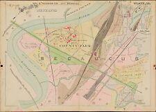 1909 G.M. HOPKINS SECAUCUS HUDSON COUNTY NEW JERSEY, SNAKE HILL COPY ATLAS MAP