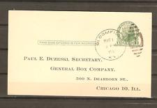 1936 Bloomfield KY Duplex Cancel on Postal Card Proxy Vote General Box Company