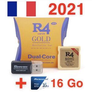 Carte R4 GOLD 2021 + Micro SD 16Go avec 100 Jeux Inclus Nintendo DS DSi 3DS