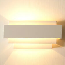 1/2 Contemporary Indoor Up & Down Wall Light Curved White Square  Lighting AX
