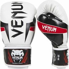 Venum Elite Boxing Gloves - White - 16oz