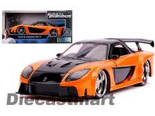 Fast & Furious Han's Mazda RX-7 Orange Jada 1:24 30732 Voiture Miniature Film