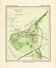 ANTIQUE MAP-NETHERLANDS-TOWN PLAN-MEIJEL-LIMBURG-KUYPER-1865