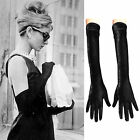 Maggie Tang 1950's Vintage Audrey Hepburn Velvet Opera Ladies Long Gloves 50cm