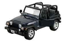 JEEP WRANGLER RUBICON BLUE 1:27 DIECAST MODEL CAR BY MAISTO