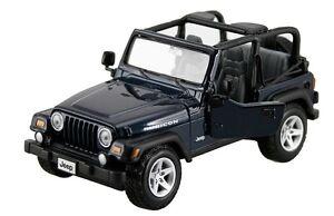 JEEP WRANGLER RUBICON BLUE 1:27 DIECAST MODEL CAR BY MAISTO