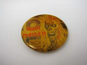 Vintage Pin Button: 1981 Iron Maiden Skeleton Design