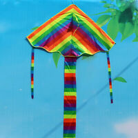 Children Adult Rainbow Kite Easy to Fly Single Line park Fun Kid Toy Colourful