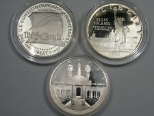3 Proof US Commemorative Silver Dollars: 1984-s, 1986-s & 1987-s.  #12