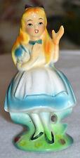 Vintage Wales Sleeping Beauty, Blond Girl Ceramic Figurine, Japan, Repaired