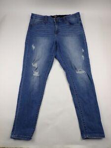 LuLaRoe Womens Jeans Size 34 Skinny High Rise Distressed - AK7