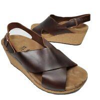 Papillio by Birkenstock women sandals Samira Wedge brown leather US 6 37 new