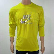 Nike Mens Dry Fit Long Sleeves T Shirt XL Yellow Gold