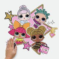 LOL Surprise Peel & Stick GIANT Wall Decals Queen Bee Dolls Girls Room Stickers