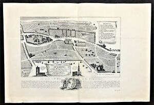 """Authentic 1904 Antique Map of """"The Parish of St Giles in the Fields London 1570"""""""