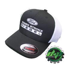 FLEXFIT FITTED ford powerstroke trucker ball cap hat diesel truck gear flex fit