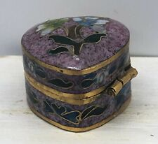 Dollhouse Miniatures Chinese Cloisonne Heart-Shaped Box