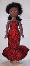 """Vintage 14.5"""" Rosebud Dusky Miss High Heel Teen Doll long hair Faerie Glen dress"""