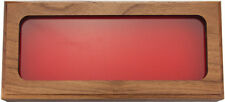 "Walnut Glass Top Display 11"" x 4.75"" x 1.5"""