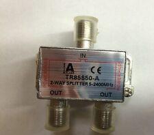Sat Verteiler Kabel 2-Fach Splitter 2 Wege 5-2400 MHz 1x IN 2x OUT