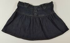 Faded Glory Jean Mini Skirt Girls Size 12 Blue Flares At Hip Adjustable Waist