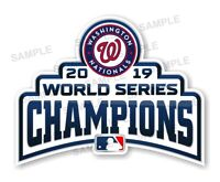 Nationals Washington  Champions 2019  Precision Cut Decal (White)