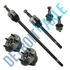 2New FRONT CV Axleshaft + 2 Wheel Hub Bearing Assembly + 2 Lower Ball Joints 4WD