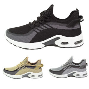 Mens Air Shock Absorbing Lightweight Trainers Running Walking Lace Up Shoes Size