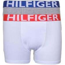 Tommy Hilfiger Boy's 2 Pack Bold Cotton Stretch Boxer Brief / Trunk, White+Grey