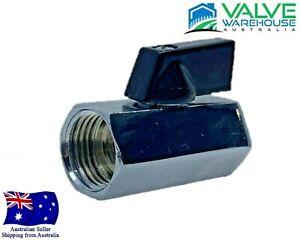 """Brass Mini Ball Valve - Female and Female BSP - 8mm  (1/4"""") - 50mm (1/2"""")"""