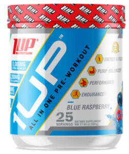 1UP NUTRITION Blue Raspberry All In One Pre-Workout Endurance + Pump 550g UK