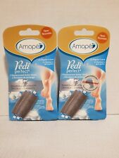 Lot of 2 Amope Pedi Perfect Replacement Roller Heads, regular coarse 2 count