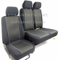 VW Transporter T5 Van Seat Covers- OEM Galactic Charcoal Grey -Made to Measure