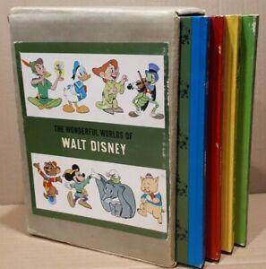 1965 The Wonderful Worlds of Walt Disney 4 Book Set ... in slip case
