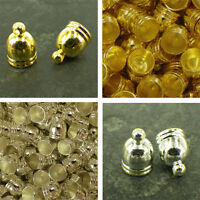 Gold or Silver tassel end caps,  JEWELLERY FINDINGS 11 x 8 mm