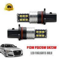 2x P13W PSX26W SH23W LED Bulb Fog Daytime Running Light DRL Audi A4 B8 Camaro