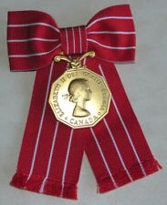 CD , Canadian Decorations Medal Formal Ladies Bow Mounted Style Full Size